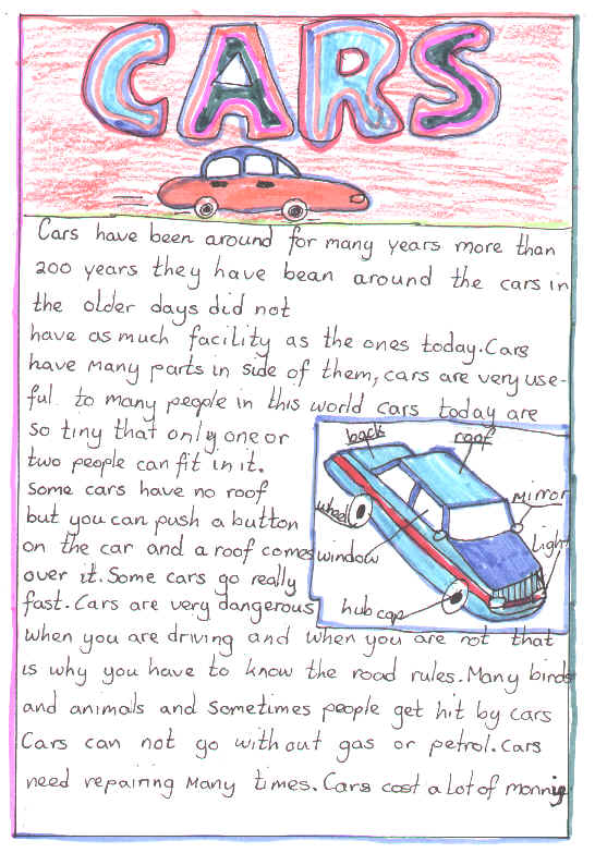my car essays My first car first cars are really special like most teenagers, i had to settle for a used car, but at least some of my first car dreams seemed likely to.