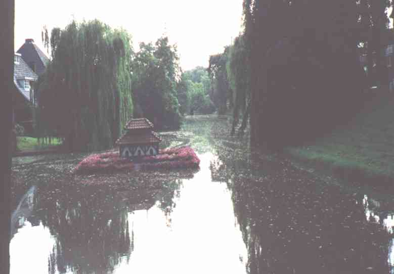 Small dutch water canal